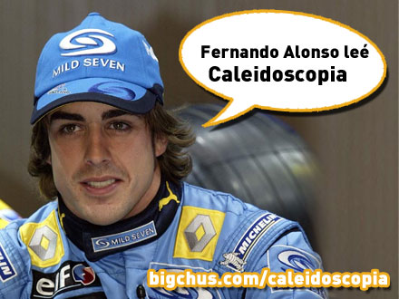 Fernando Alonso lee Caleidoscopia